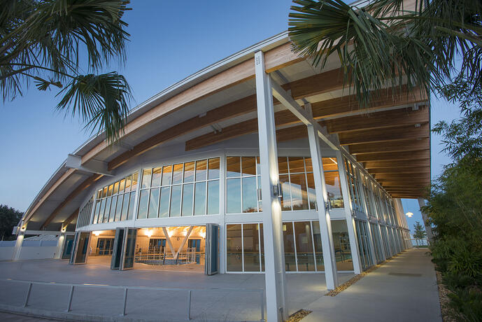 The Sun N Fun Center is LEED Gold certified - come check it out!